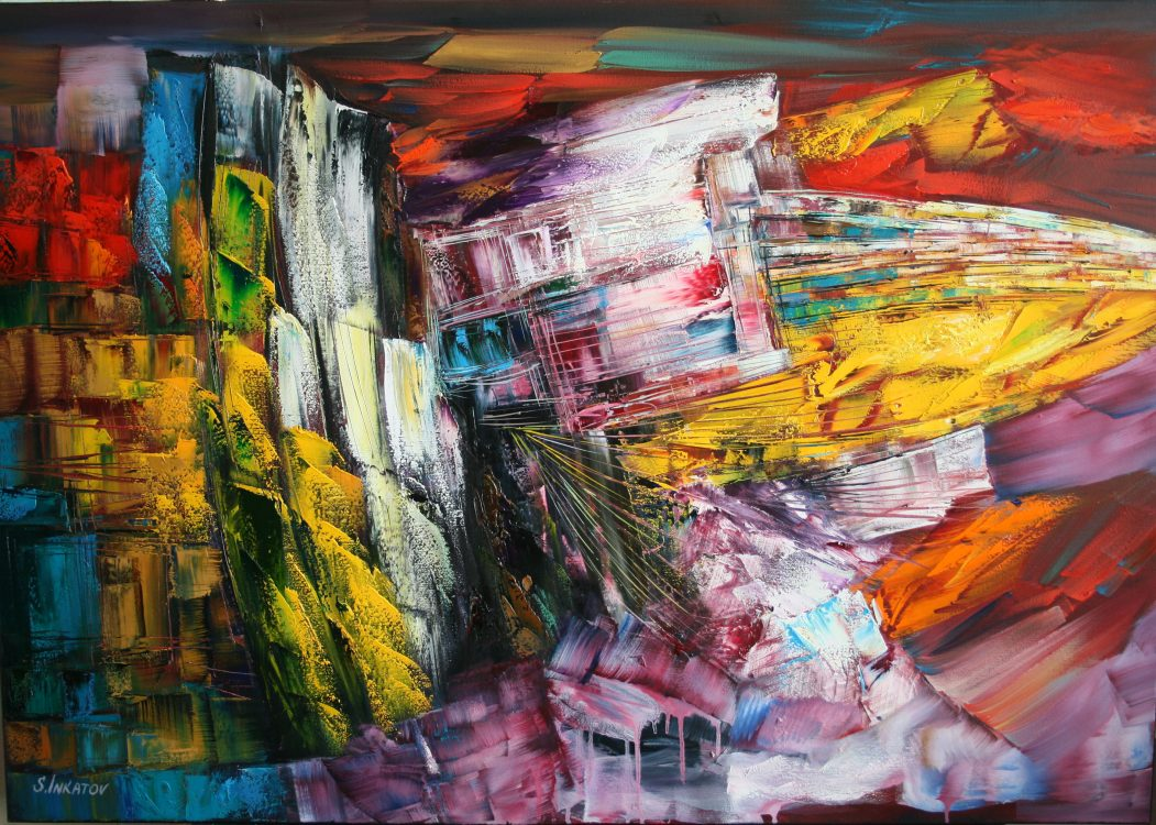 34. Meeting with the Sun 70-100cm oil canvas Inkatov
