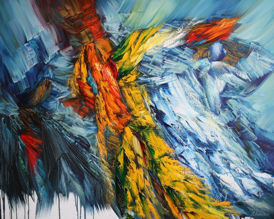 36. Blue Attraction 80-100cm oil canvas 2020 Inkatov