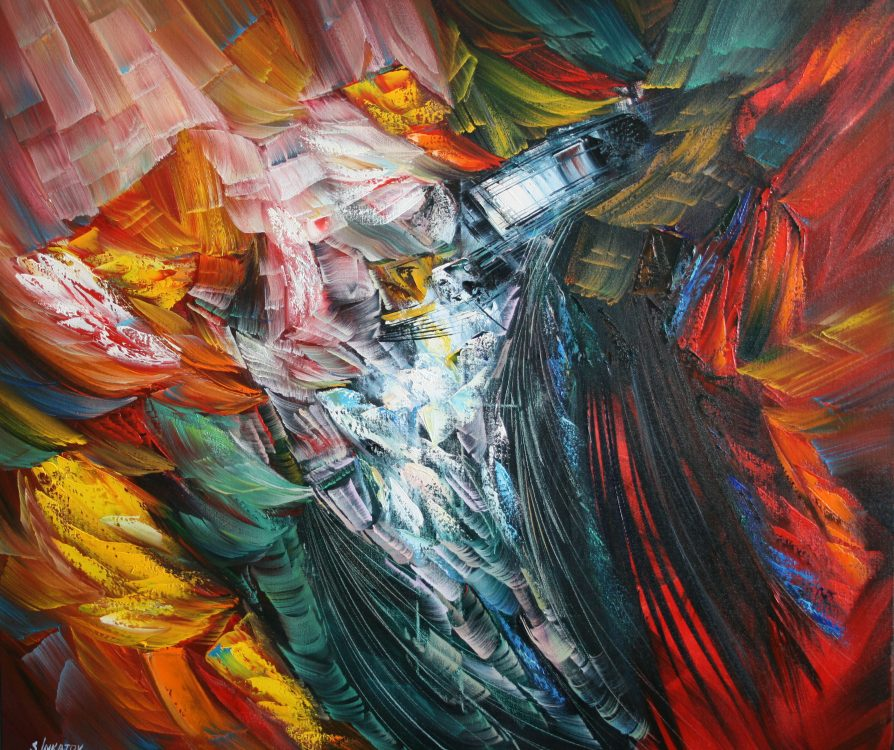 Power of Love 80-90cm oil canvas 2020