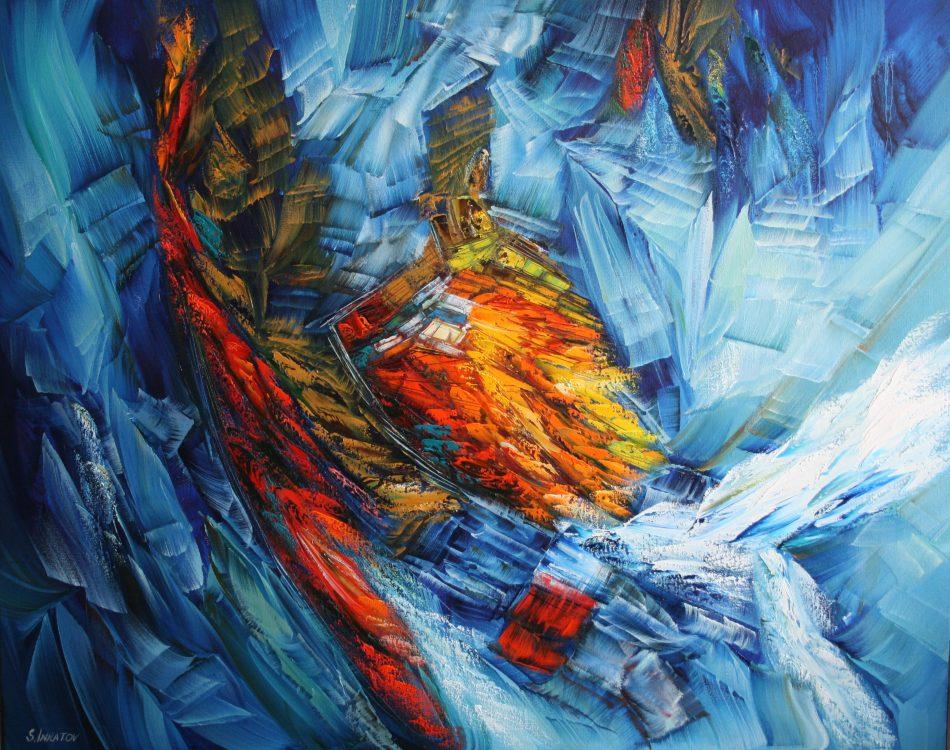 Blue Eternity 80-100cm oil canvas 2020