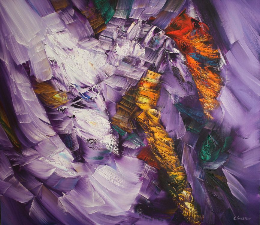 Purple echo 2 80-90cm oil canvas 2020