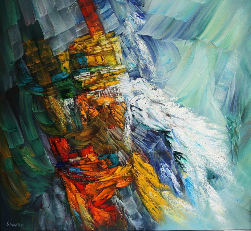 Coast 90-90cm oil canvas 2020