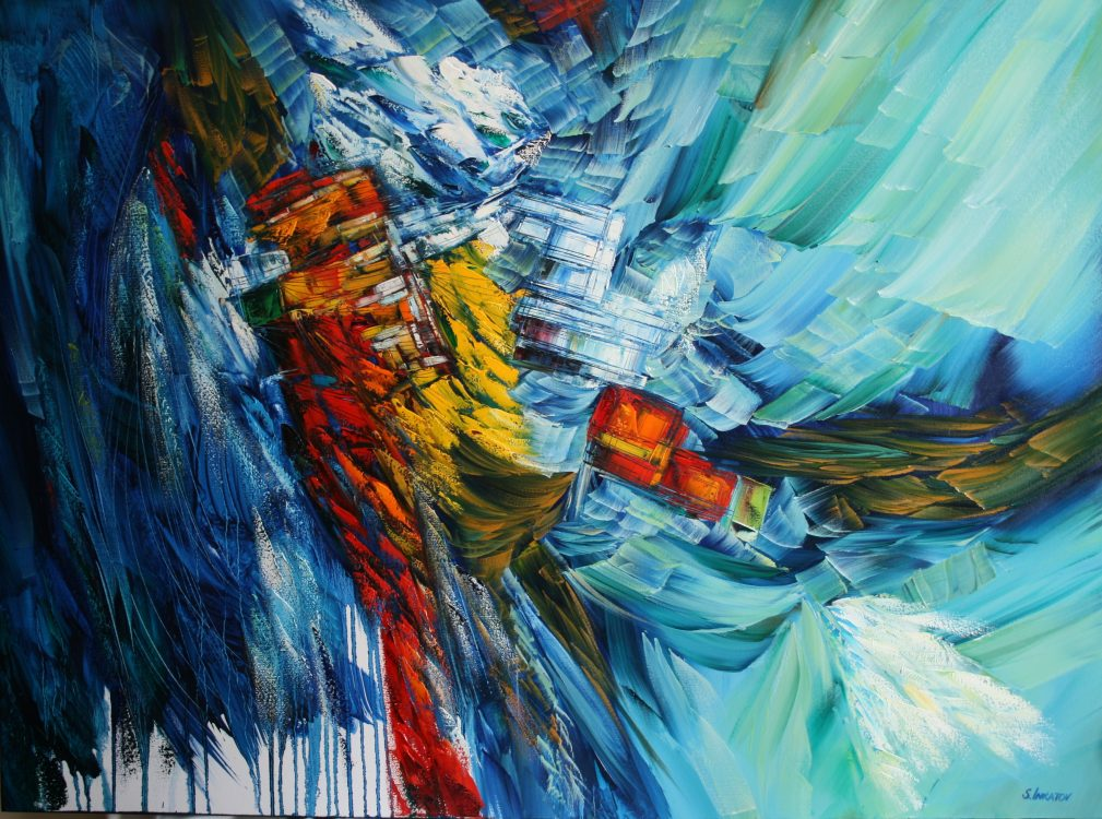 Azure Dream 90-120cm oil canvas 2020